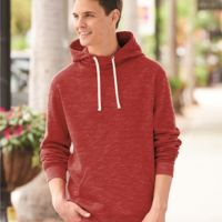 Melange Fleece Hooded Pullover Sweatshirt Thumbnail